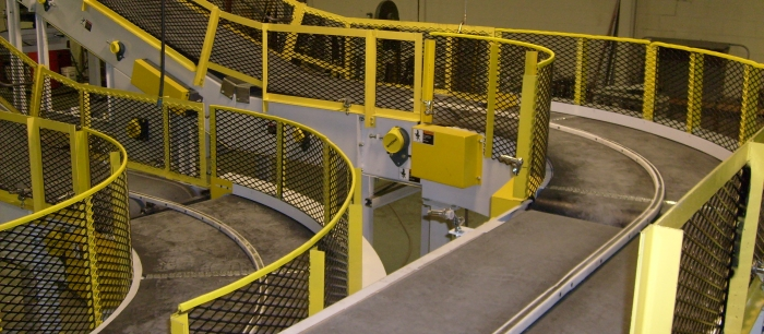 TWIN BELT CONVEYORS WITH TURN
